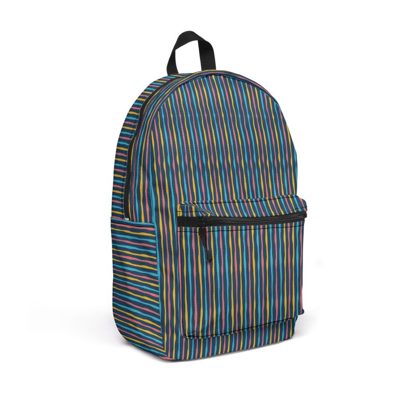 Stripped Accessories Backpack Bag by Rocket Artist Shop