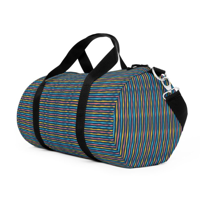Stripped Accessories Duffel Bag Bag by Rocket Artist Shop