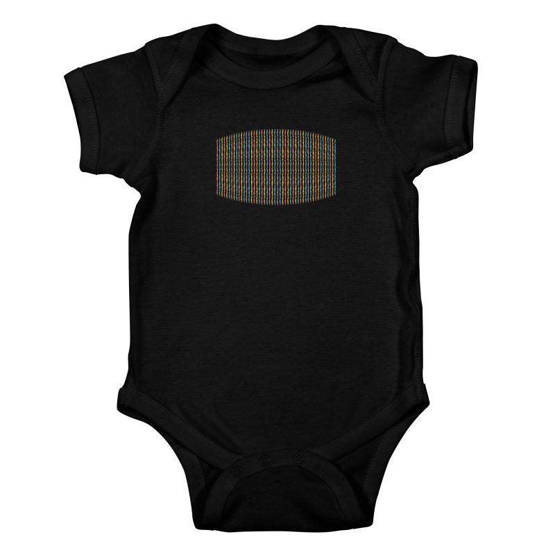 Stripped Kids Baby Bodysuit by Rocket Artist Shop