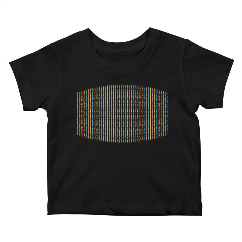 Stripped Kids Baby T-Shirt by Rocket Artist Shop