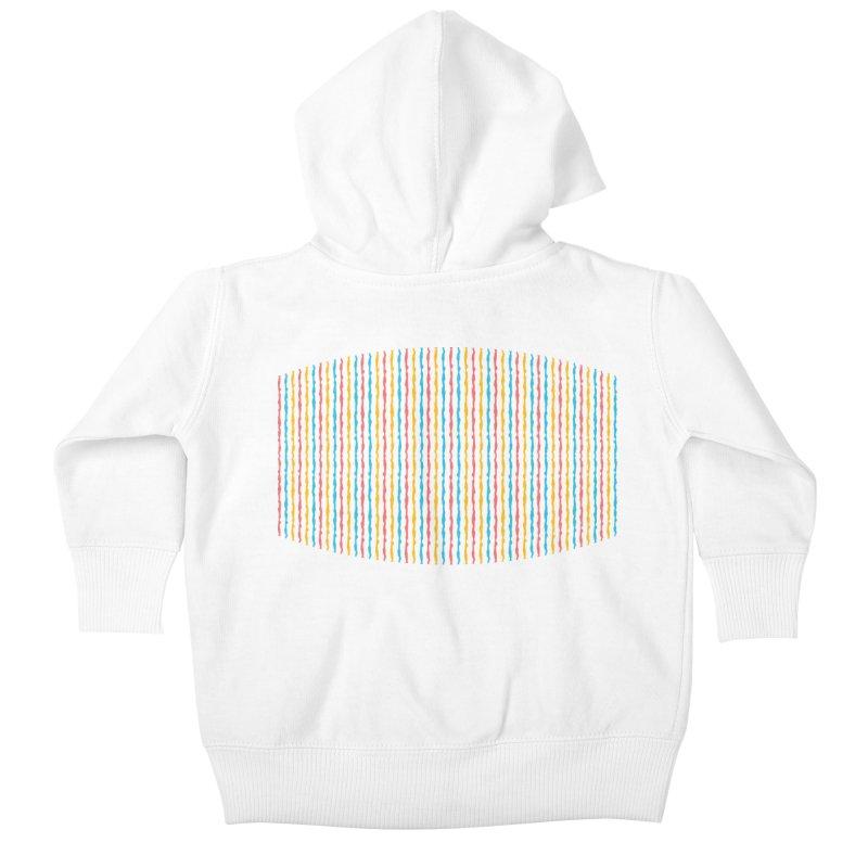 Stripped Kids Baby Zip-Up Hoody by Rocket Artist Shop