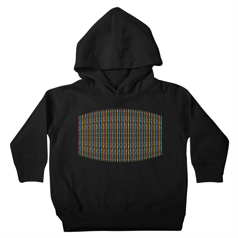 Stripped Kids Toddler Pullover Hoody by Rocket Artist Shop