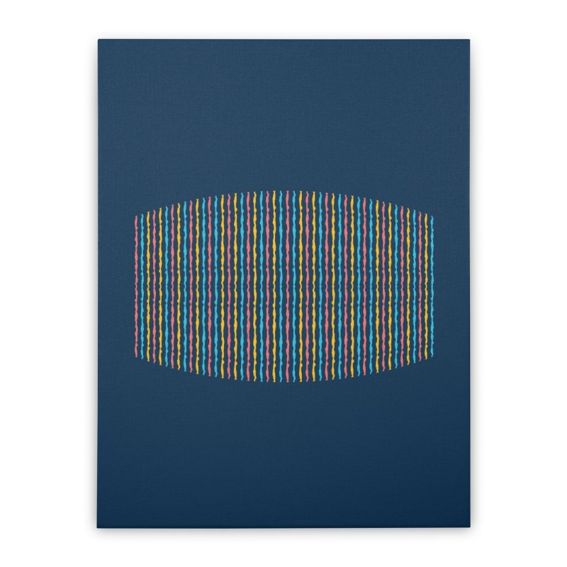 Stripped Home Stretched Canvas by Rocket Artist Shop