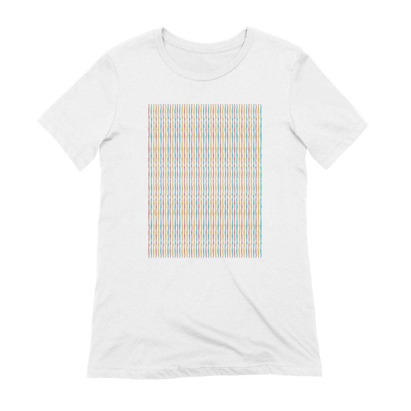 Stripped Women's Extra Soft T-Shirt by Rocket Artist Shop