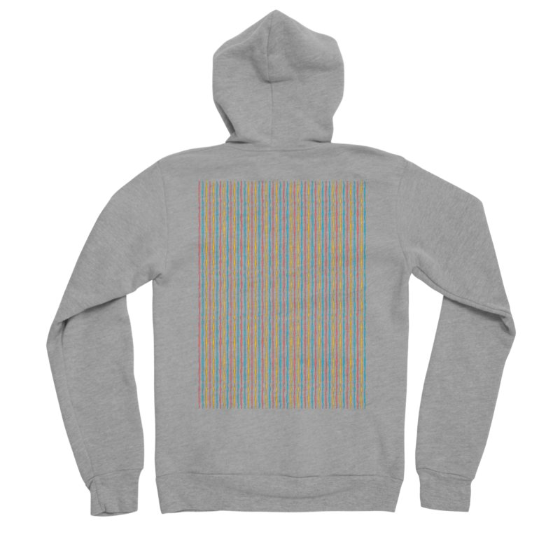 Stripped Men's Sponge Fleece Zip-Up Hoody by Rocket Artist Shop