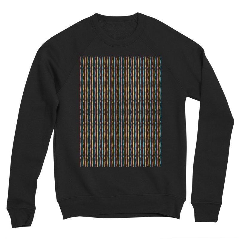 Stripped Men's Sponge Fleece Sweatshirt by Rocket Artist Shop