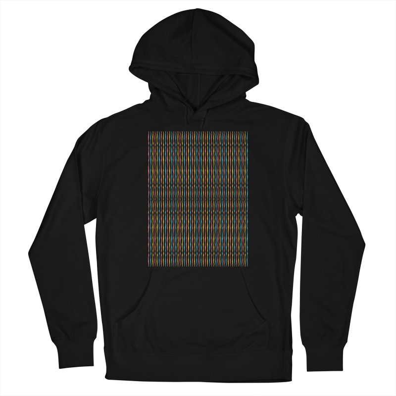 Stripped Men's French Terry Pullover Hoody by Rocket Artist Shop