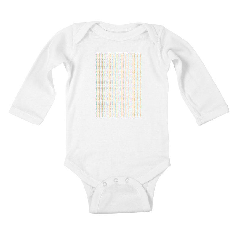 Stripped Kids Baby Longsleeve Bodysuit by Rocket Artist Shop