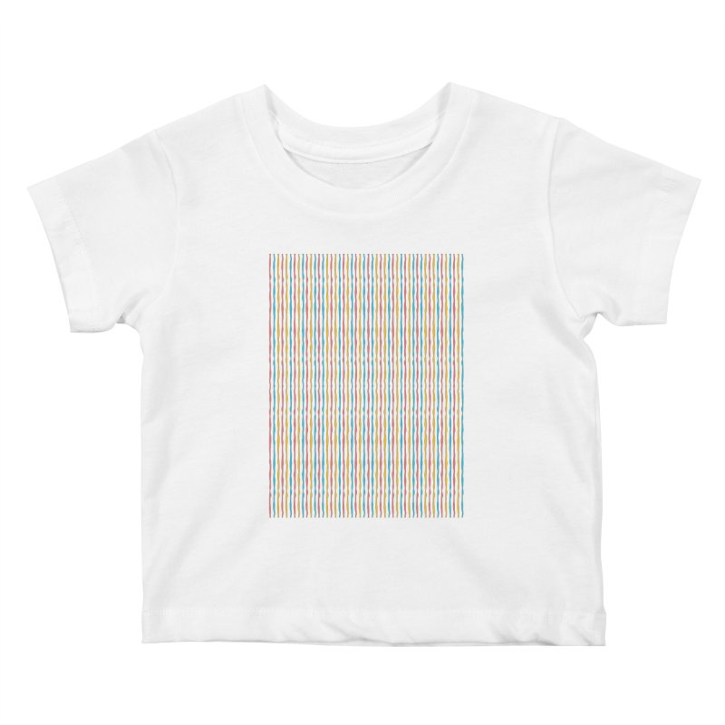 Stripped Kids Baby T-Shirt by Rocket Artist Shop