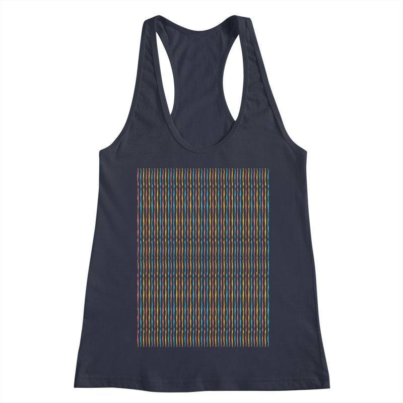 Stripped Women's Racerback Tank by Rocket Artist Shop
