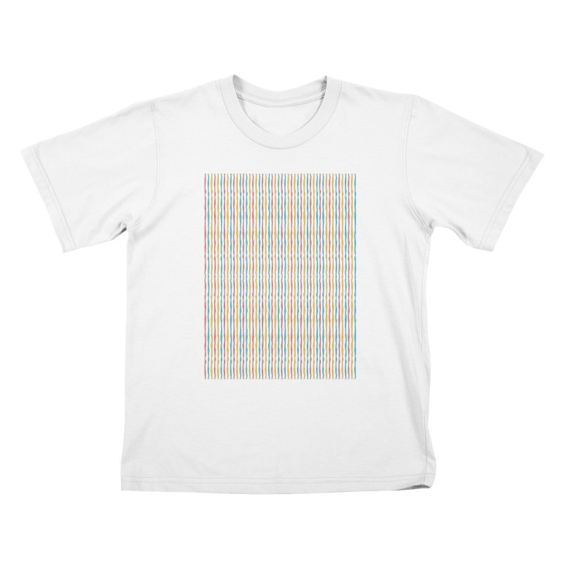 Stripped Kids T-Shirt by Rocket Artist Shop