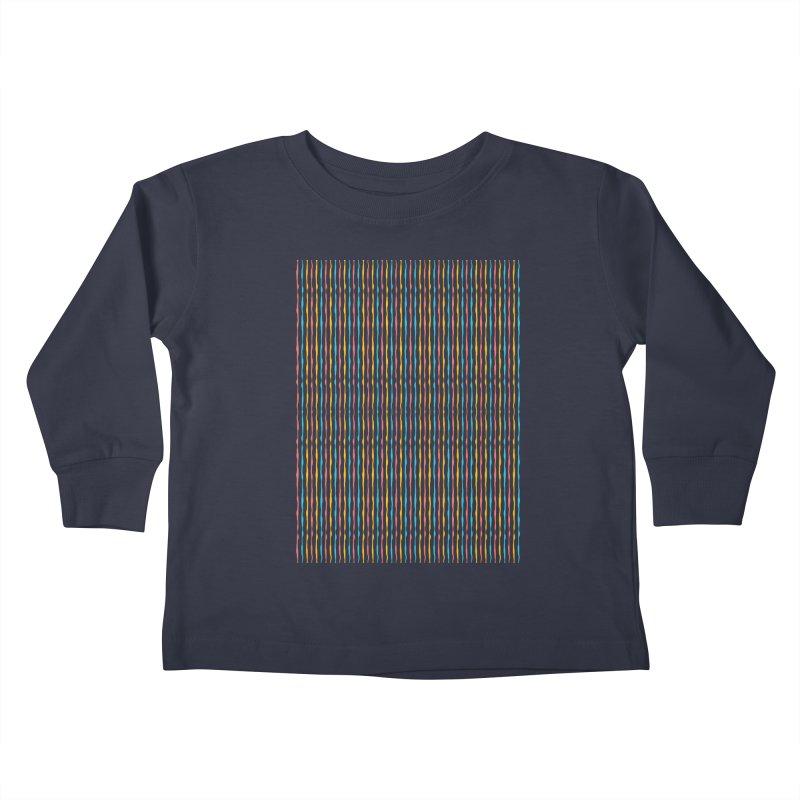 Stripped Kids Toddler Longsleeve T-Shirt by Rocket Artist Shop