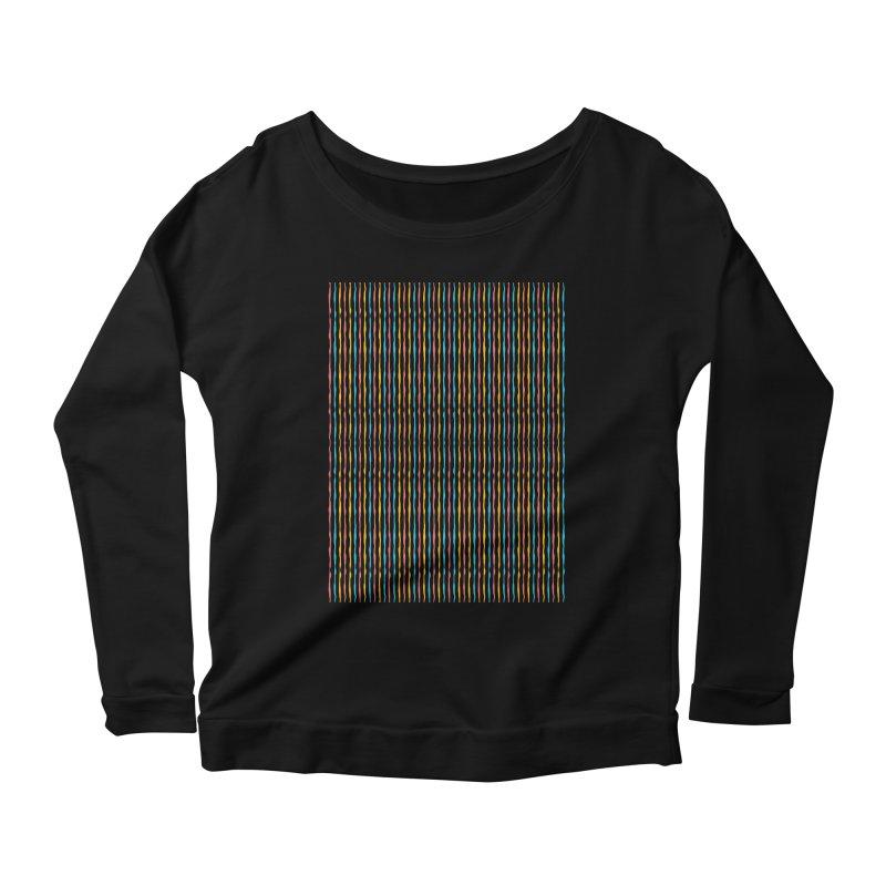 Stripped Women's Scoop Neck Longsleeve T-Shirt by Rocket Artist Shop
