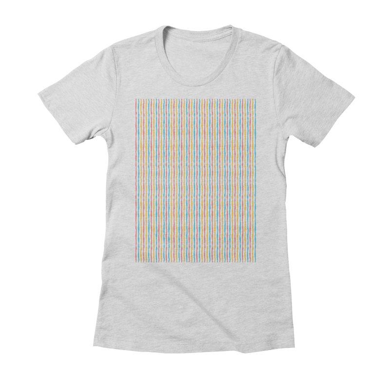 Stripped Women's Fitted T-Shirt by Rocket Artist Shop