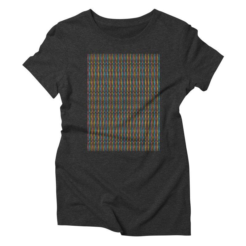 Stripped Women's Triblend T-Shirt by Rocket Artist Shop