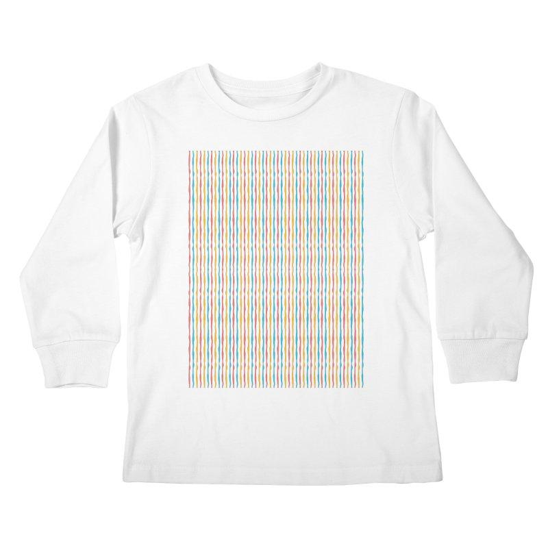 Stripped Kids Longsleeve T-Shirt by Rocket Artist Shop