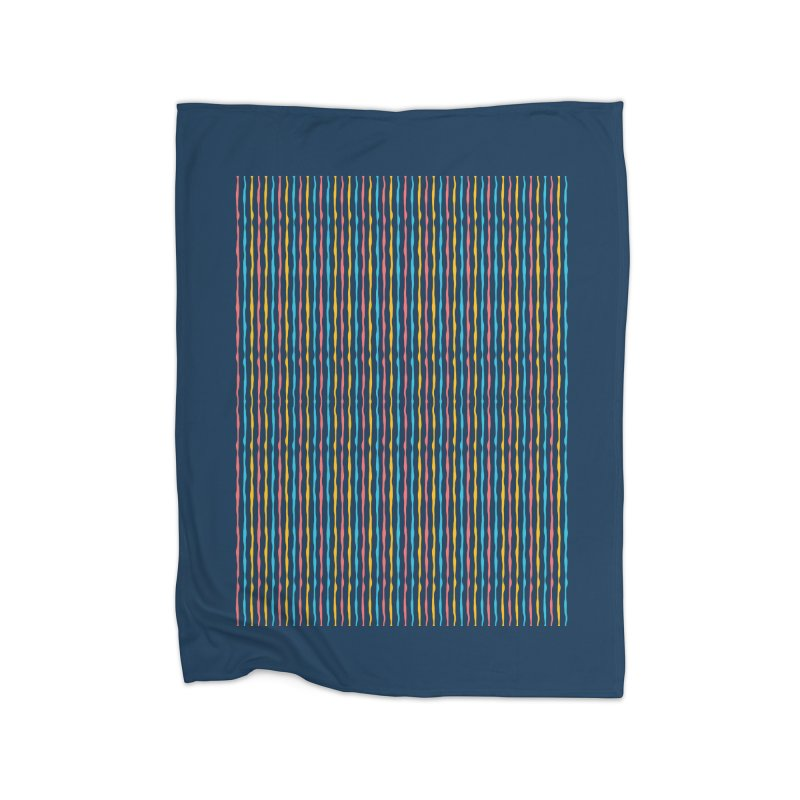 Stripped Home Fleece Blanket Blanket by Rocket Artist Shop