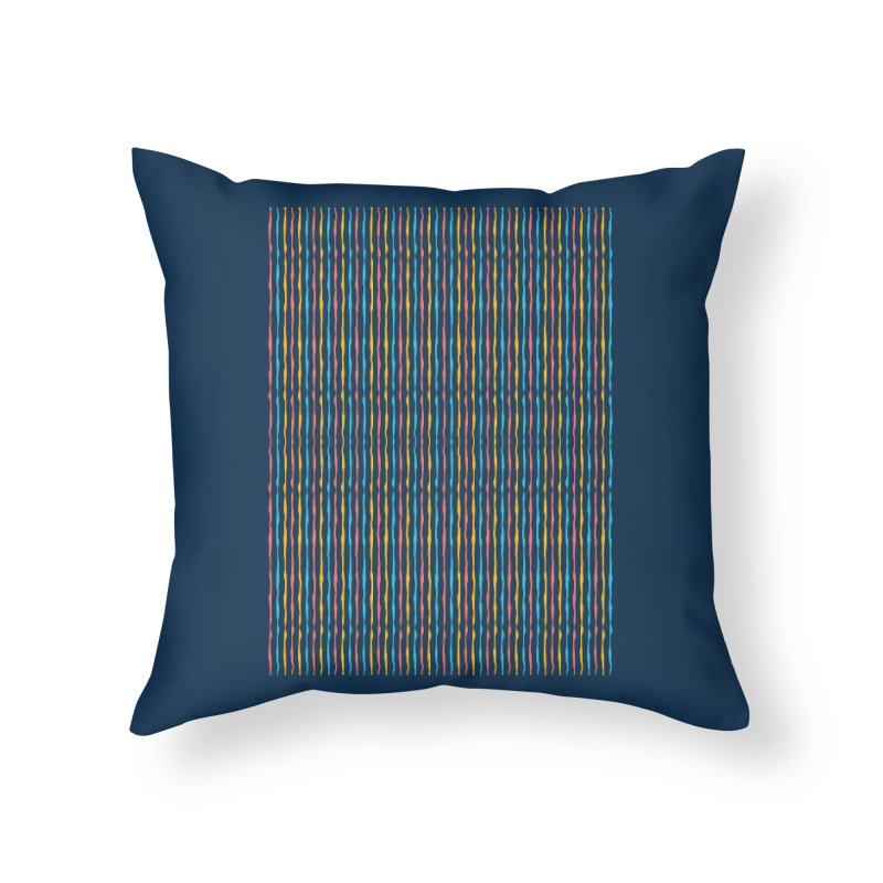 Stripped Home Throw Pillow by Rocket Artist Shop