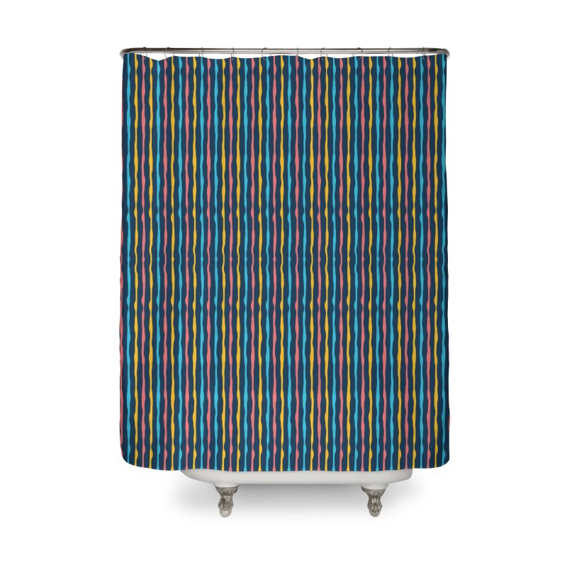 Stripped Home Shower Curtain by Rocket Artist Shop