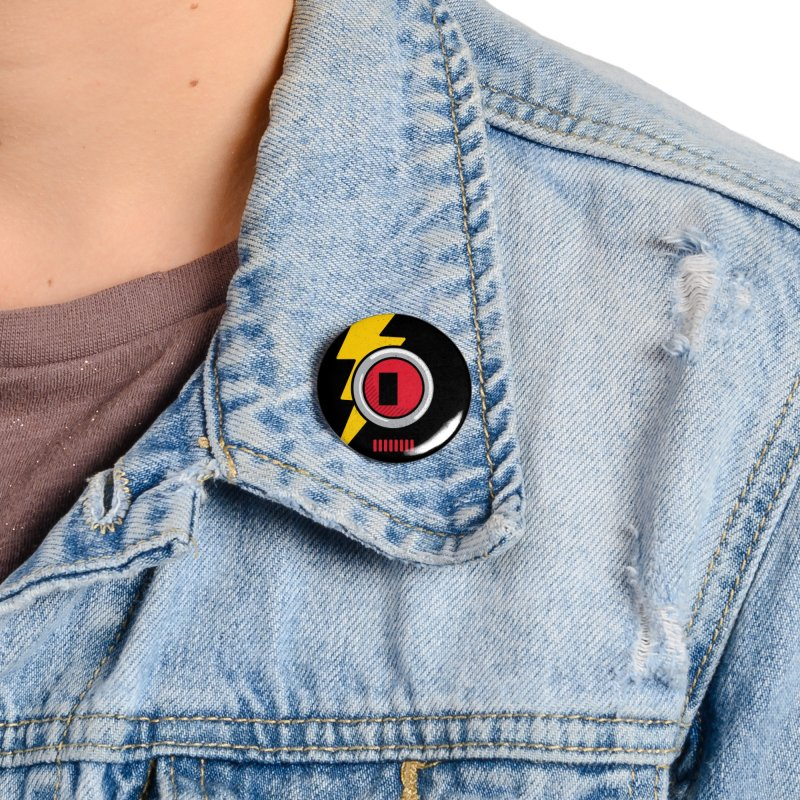 ROBOT BOWIE Accessories Button by Rocket Artist Shop