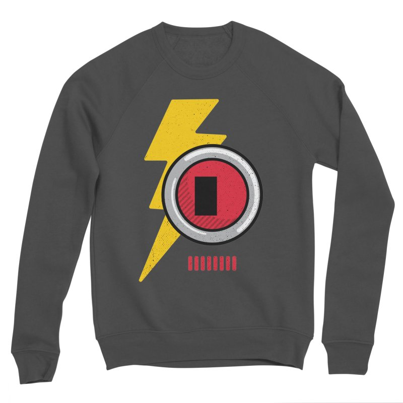 ROBOT BOWIE Women's Sponge Fleece Sweatshirt by Rocket Artist Shop