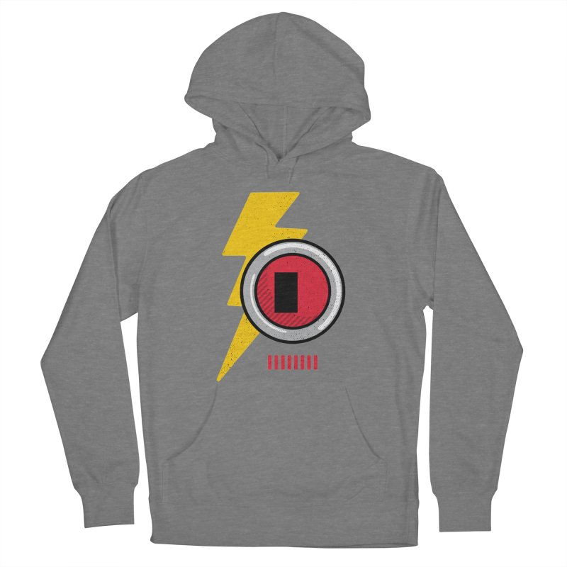 ROBOT BOWIE Men's French Terry Pullover Hoody by Rocket Artist Shop