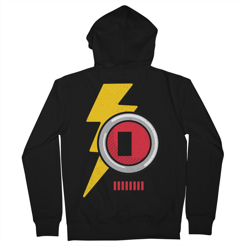 ROBOT BOWIE Women's French Terry Zip-Up Hoody by Rocket Artist Shop