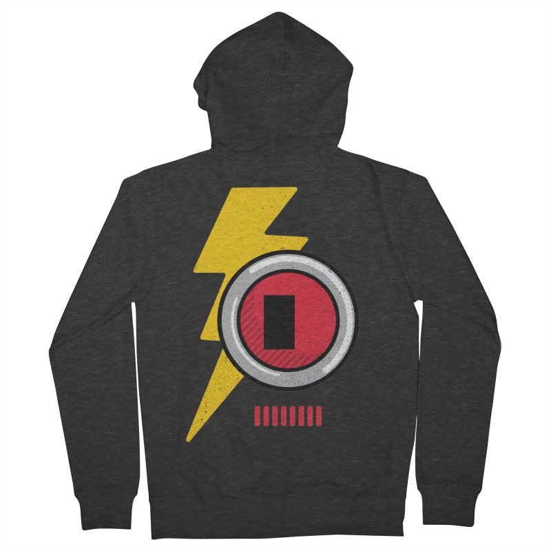 ROBOT BOWIE Men's French Terry Zip-Up Hoody by Rocket Artist Shop