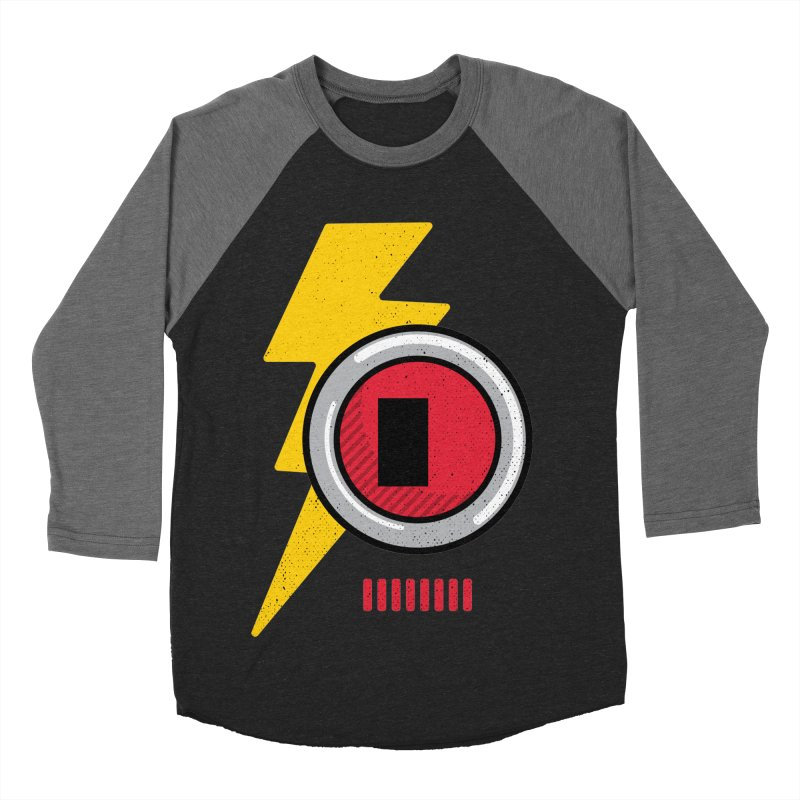 ROBOT BOWIE Men's Baseball Triblend Longsleeve T-Shirt by Rocket Artist Shop