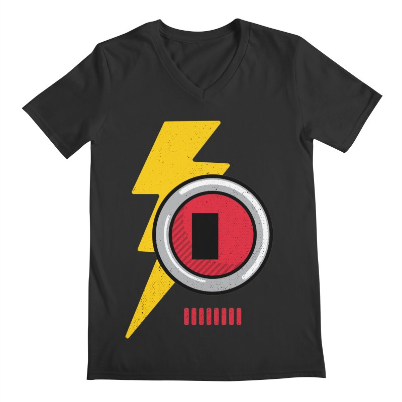 ROBOT BOWIE Men's Regular V-Neck by Rocket Artist Shop