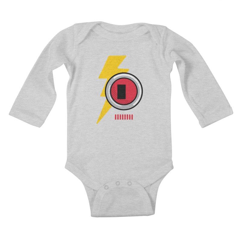 ROBOT BOWIE Kids Baby Longsleeve Bodysuit by Rocket Artist Shop