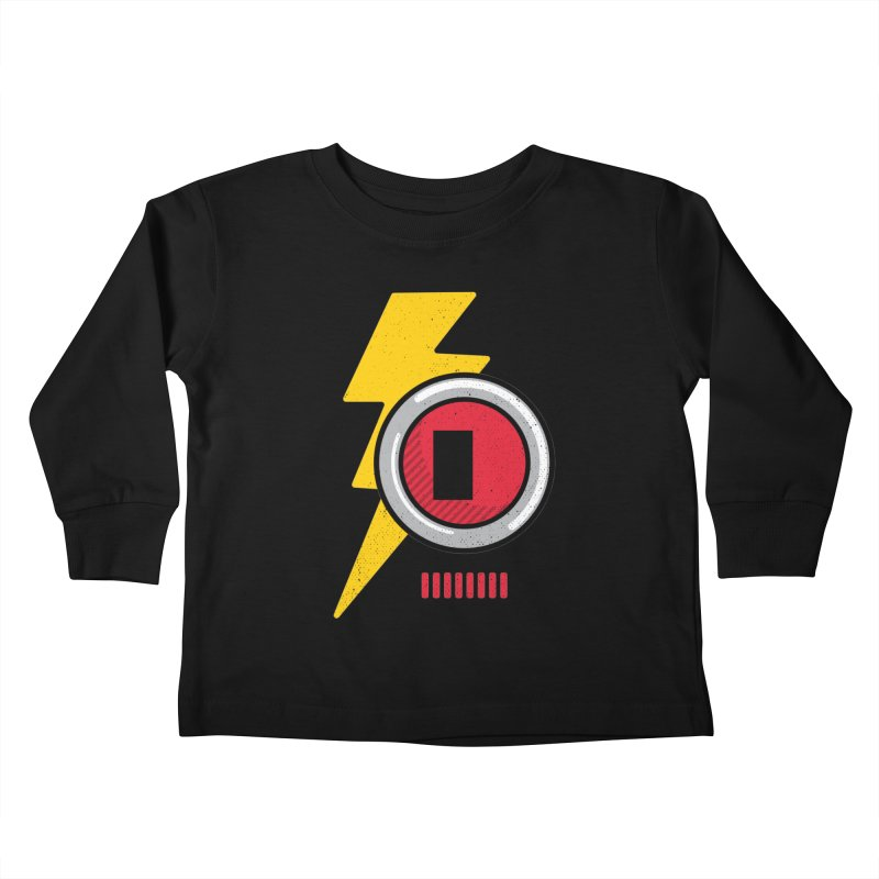 ROBOT BOWIE Kids Toddler Longsleeve T-Shirt by Rocket Artist Shop
