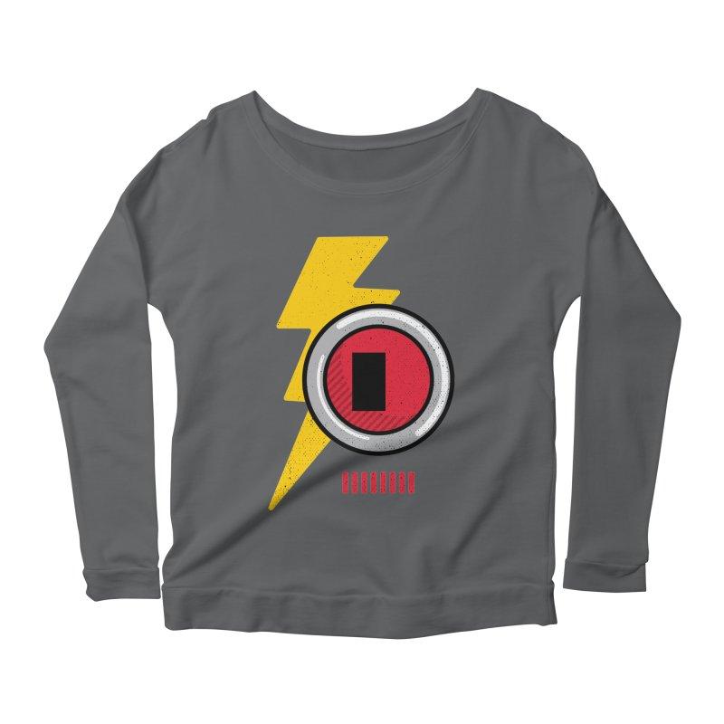 ROBOT BOWIE Women's Scoop Neck Longsleeve T-Shirt by Rocket Artist Shop