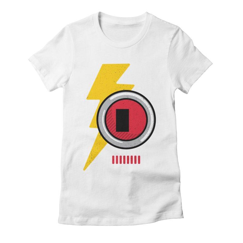 ROBOT BOWIE Women's Fitted T-Shirt by Rocket Artist Shop