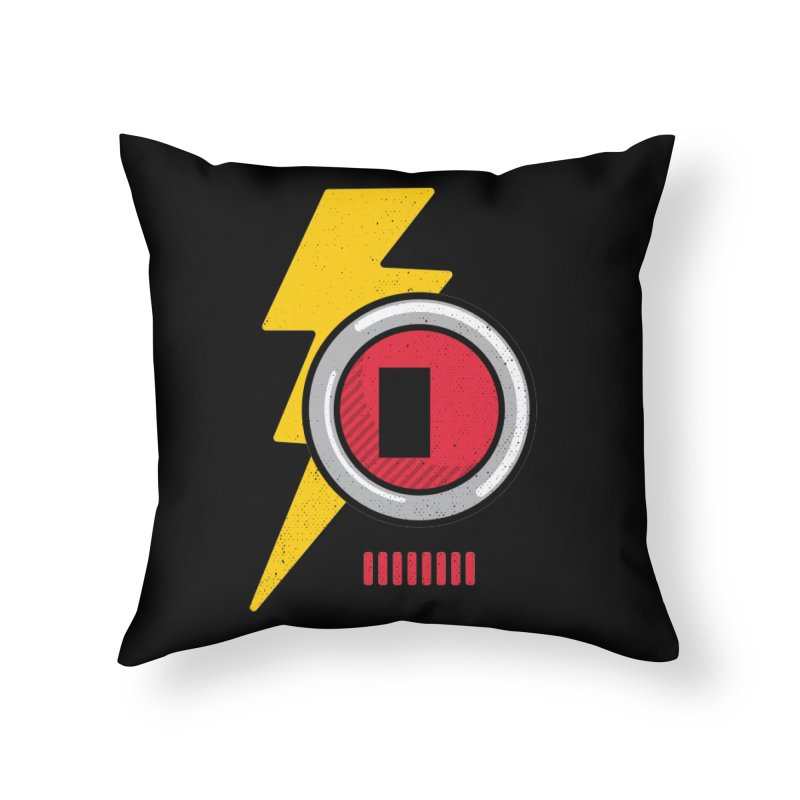 ROBOT BOWIE Home Throw Pillow by Rocket Artist Shop