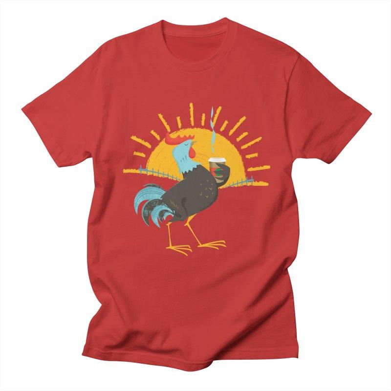 Goog Morning Men's T-shirt by Rocket Artist Shop