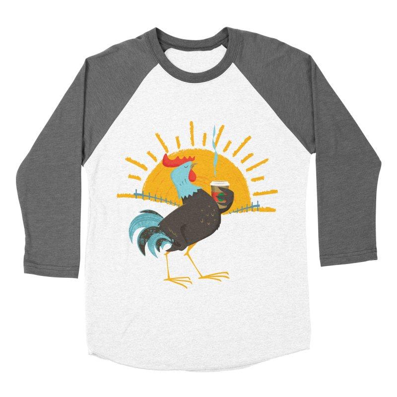 Goog Morning Women's Baseball Triblend T-Shirt by Rocket Artist Shop