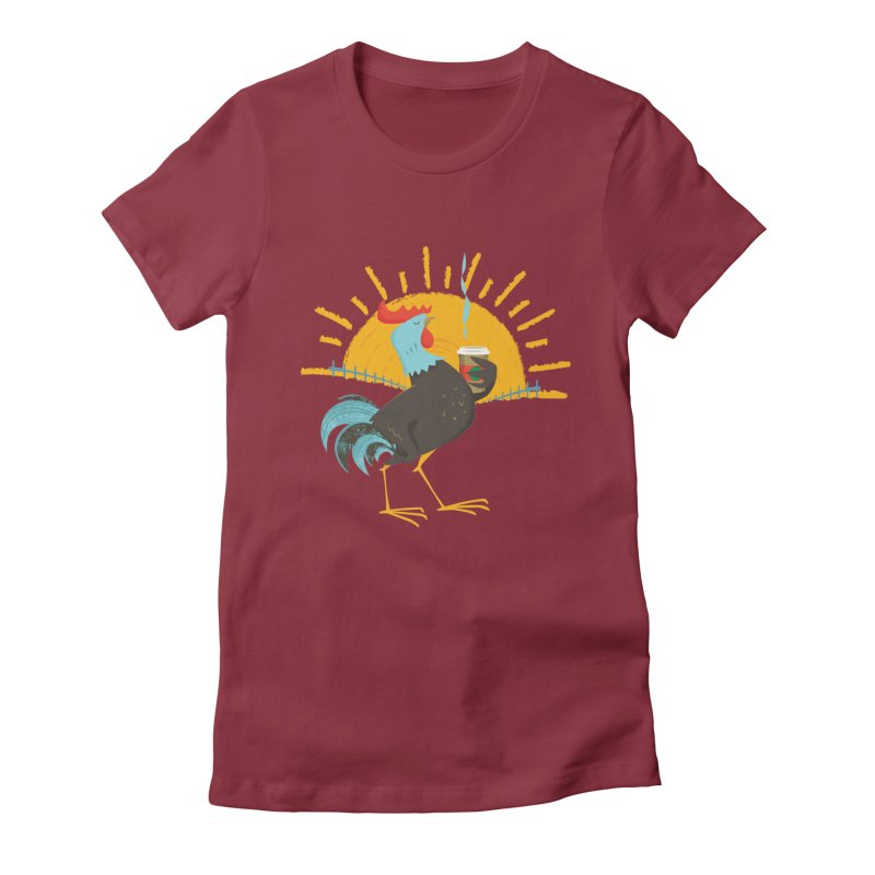 Goog Morning Women's Fitted T-Shirt by Rocket Artist Shop