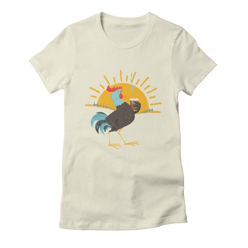 Goog Morning Women's Fitted T-Shirt by Rocket Artist Shop