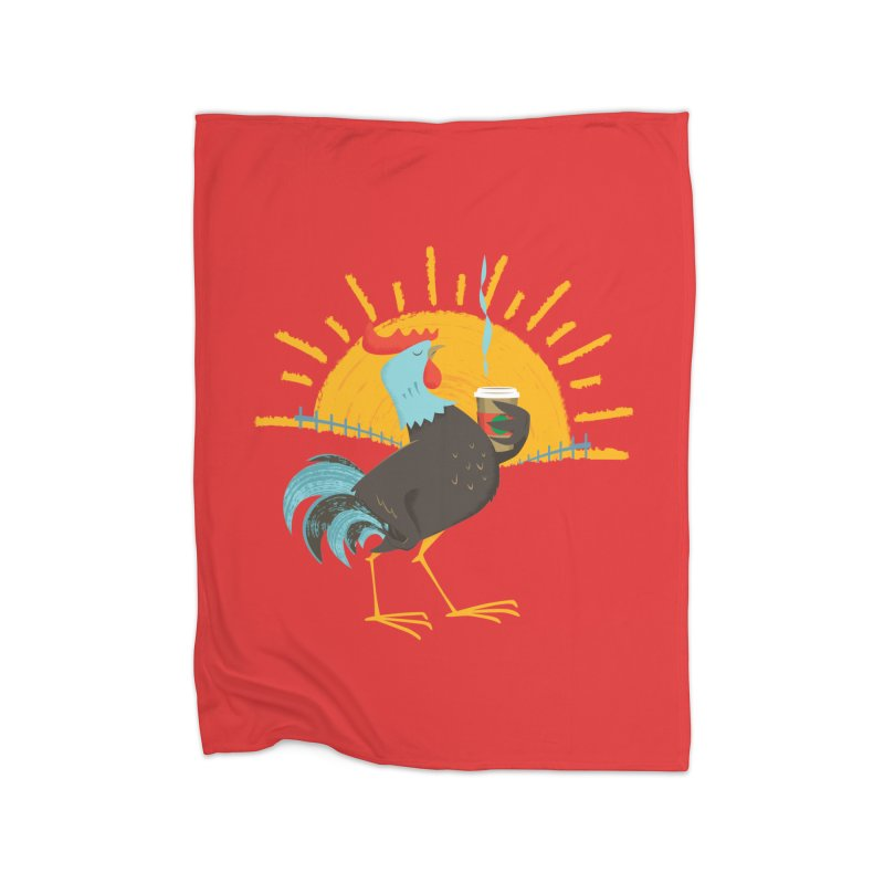 Goog Morning Home Fleece Blanket by Rocket Artist Shop