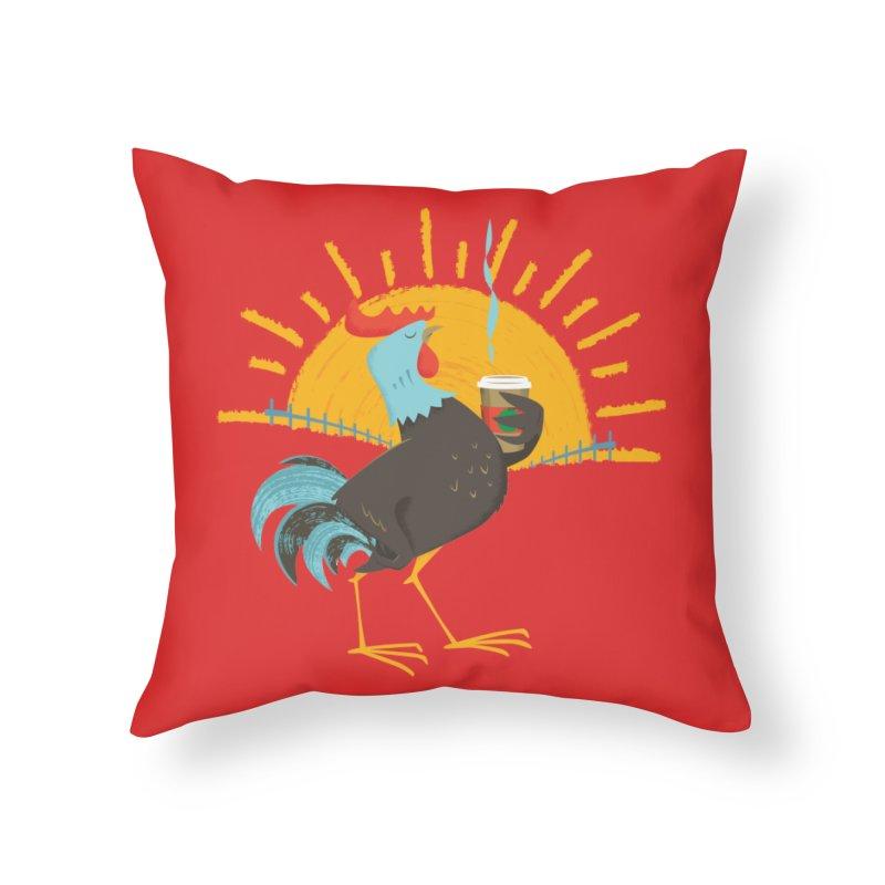 Goog Morning Home Throw Pillow by Rocket Artist Shop