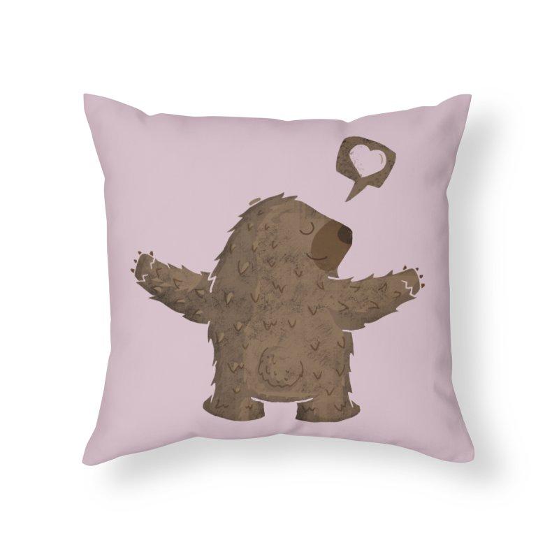 Gimme a hug! Home Throw Pillow by Rocket Artist Shop