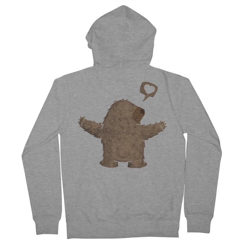 Gimme a hug! Men's French Terry Zip-Up Hoody by Rocket Artist Shop