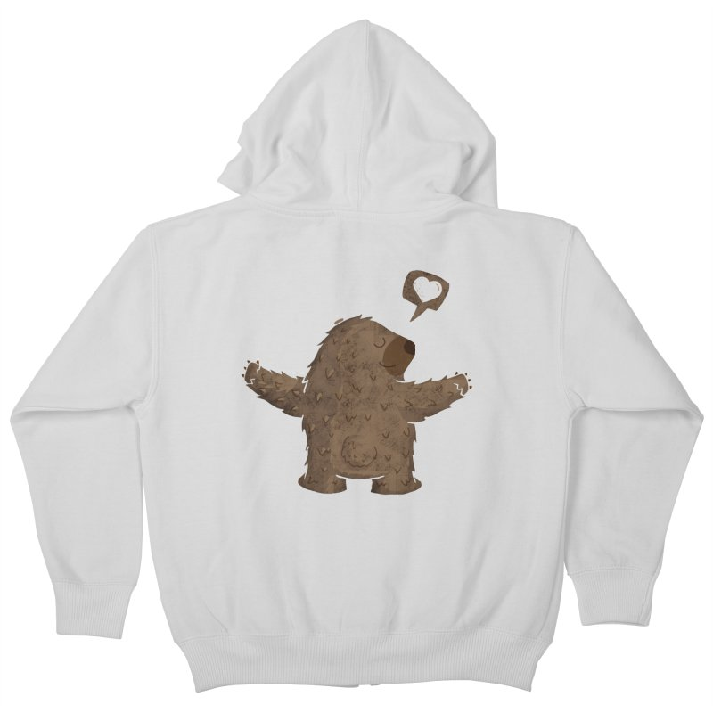 Gimme a hug! Kids Zip-Up Hoody by Rocket Artist Shop
