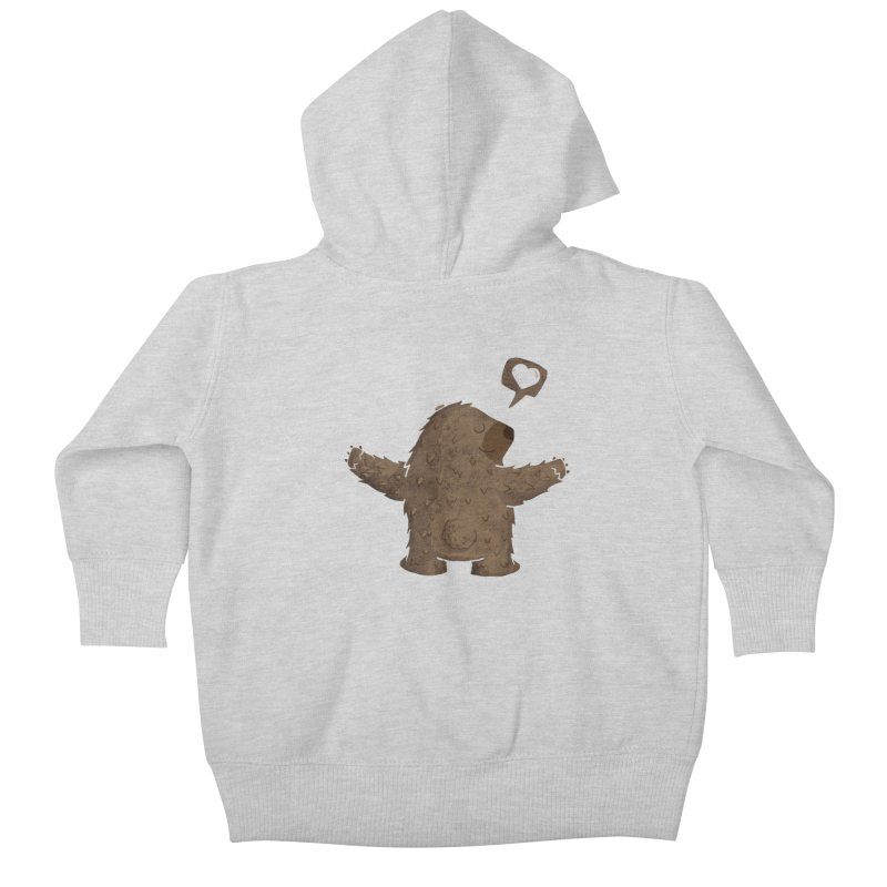 Gimme a hug! Kids Baby Zip-Up Hoody by Rocket Artist Shop