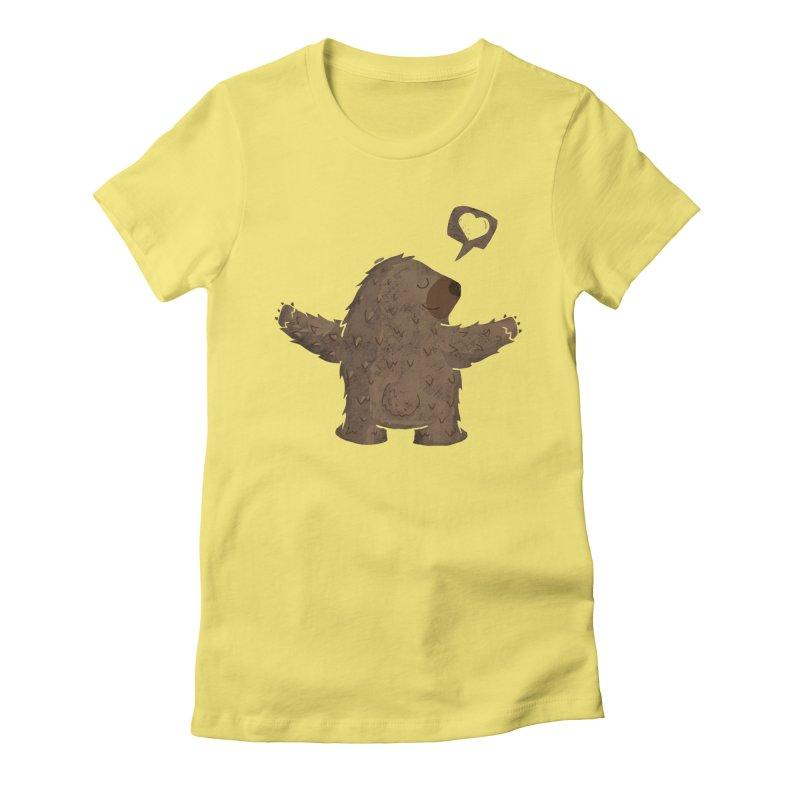 Gimme a hug! Women's Fitted T-Shirt by Rocket Artist Shop