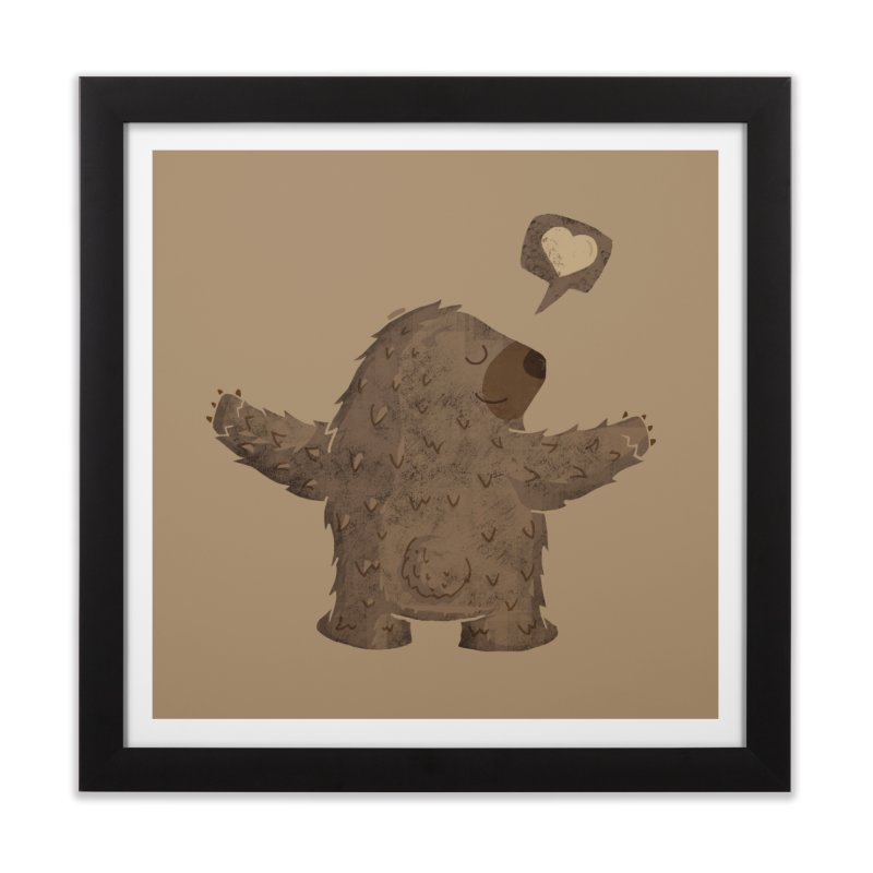 Gimme a hug! Home Framed Fine Art Print by Rocket Artist Shop