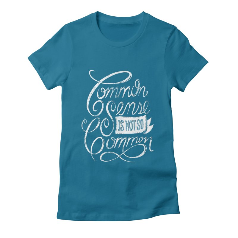 UNCOMMON Women's Fitted T-Shirt by Rocket Artist Shop