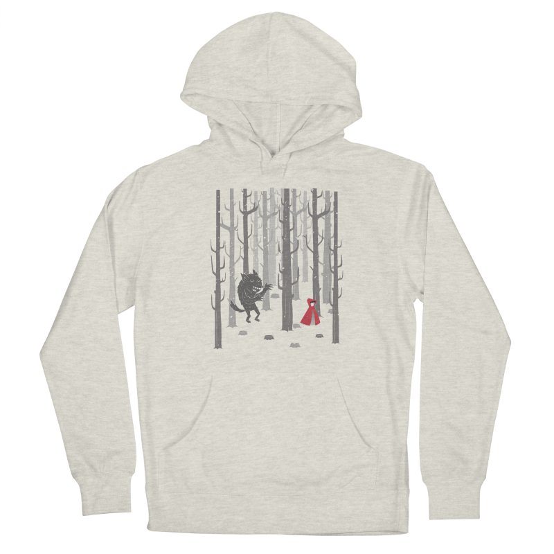 Beware of the wolf Men's French Terry Pullover Hoody by Rocket Artist Shop