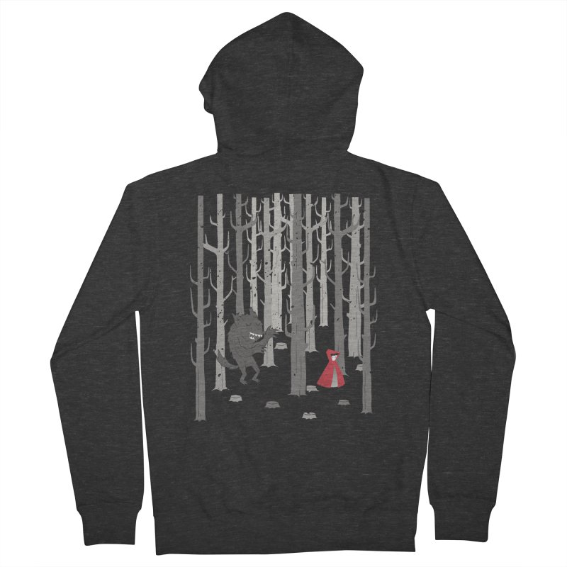 Beware of the wolf Men's Zip-Up Hoody by Rocket Artist Shop